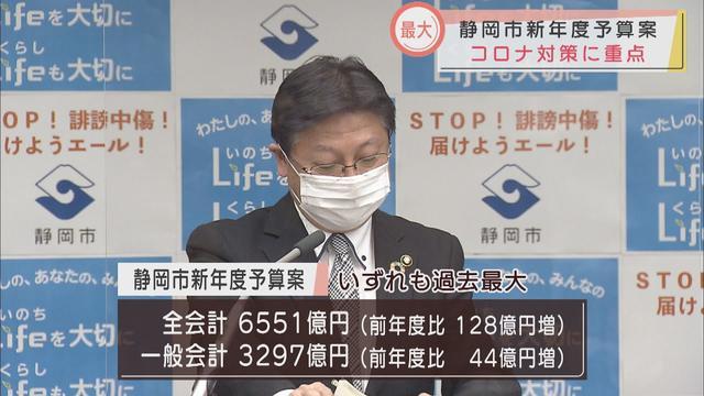 画像: 命とくらしを守る「2つのライフ予算」 静岡市が過去最大の新年度予算発表…一般会計3297億円 youtu.be