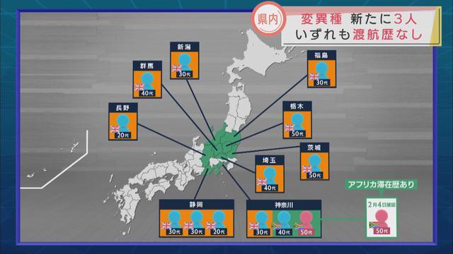 画像2: 県内に住む3人がイギリス由来の変異ウイルスに感染 静岡県はくれぐれも個人を特定しないようにと呼びかけ