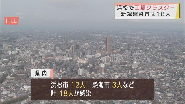 画像: 浜松の工場でクラスター、静岡県内新規感染者18人