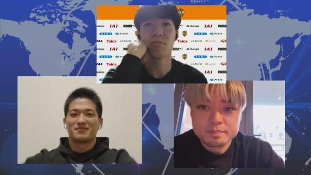 画像: 上段)西澤選手 下段左)北川選手 下段右)松原選手