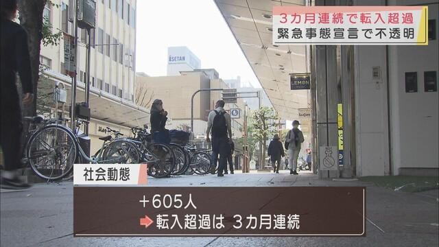 画像: 静岡県 3カ月連続転入超過