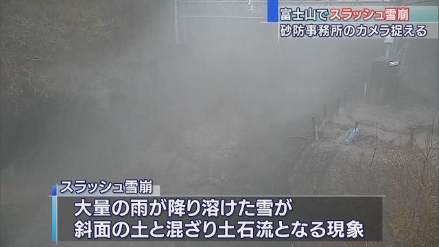 画像: 富士山でスラッシュ雪崩 砂防事務所設置のカメラが大量の土石流捉える 静岡県 youtu.be
