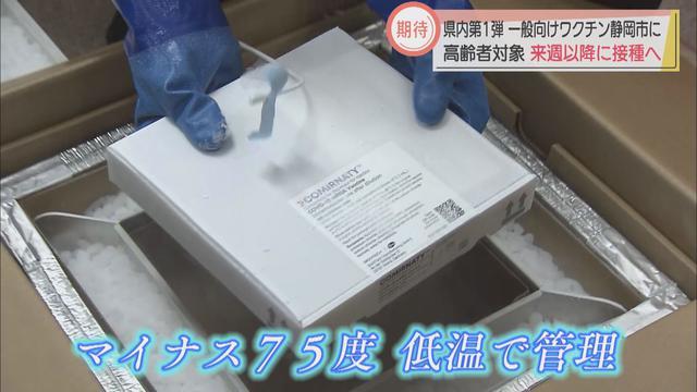 画像: 一般向け接種用のワクチン届く…高齢者の1%にも満たず 「早く接種スケジュール明らかにしたい」静岡市