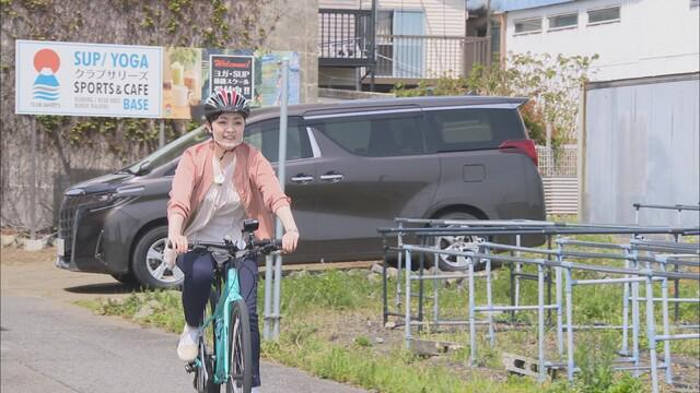 画像2: 用宗地区でサイクリング