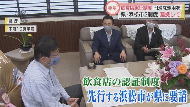 画像: 飲食店の認証制度で浜松市が静岡県に要望 「県の制度も活用し店の負担軽減を」 youtu.be