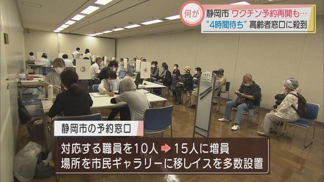 画像2: ワクチン予約代行の窓口再開 8時には80人の高齢者の列が… 静岡市