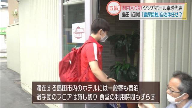 画像2: 卓球シンガポール代表を迎えた静岡県島田市の新型コロナ対策