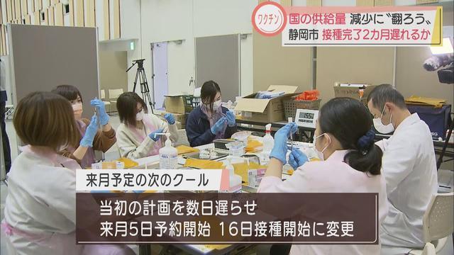 画像: 国からのコロナワクチン供給が減少? 静岡市が接種計画見直しへ 完了は来年1月の可能性も youtu.be