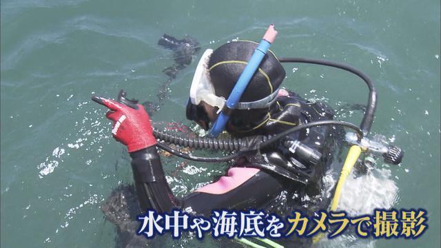 画像: ダイバーが土砂の状況を調査