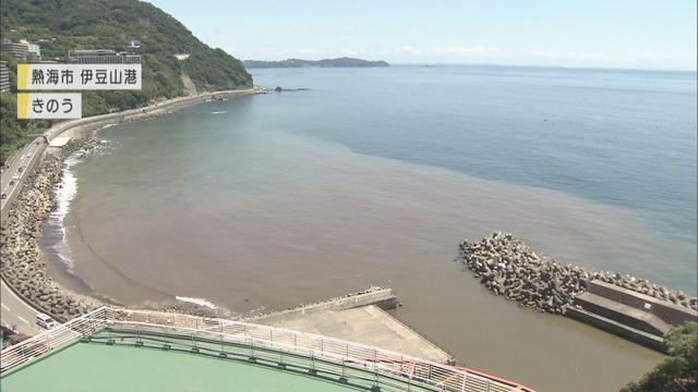 画像: 土石流が流れ込み…ダイバー「まるっきり見えない」 イセエビ漁への影響を懸念 静岡・熱海市の伊豆山港