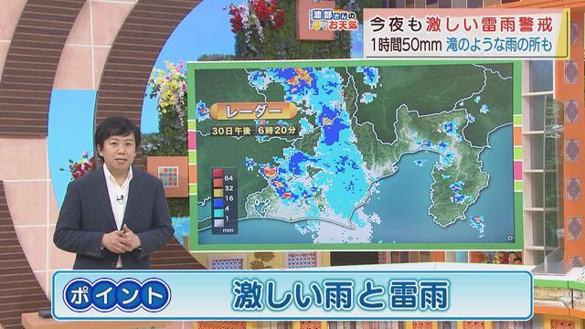 画像: 【7月30日 静岡】渡部さんのお天気 あすは「激しい雨と雷雨」不安定な天気が続きます youtu.be