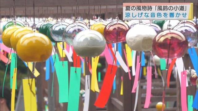 画像: 夏の風物詩 可睡斎「風鈴の小道」 静岡・袋井市