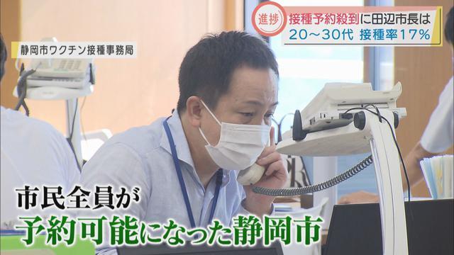 画像: 静岡市の想定を上回るワクチン接種予約が殺到 田辺市長は「接種に積極的な市民は心強い…」