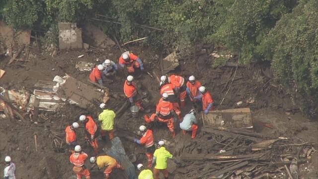 画像: 静岡・熱海市の土石流災害の現場 7月