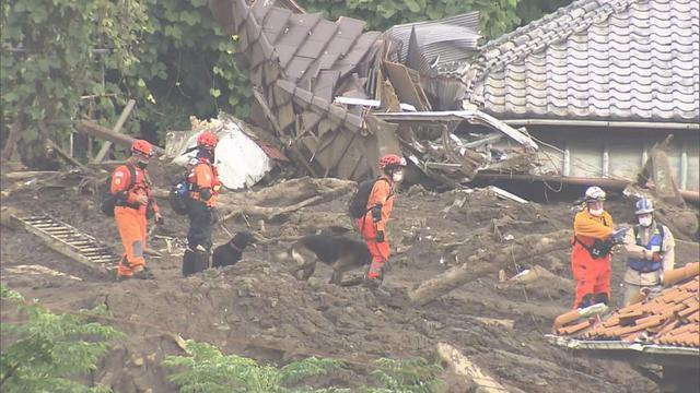 画像: 静岡・熱海市の土石流災害現場 7月
