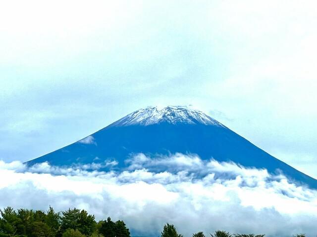 画像: 提供:芋工房かくたに 静岡・富士宮市から見た富士山 26日午後4時20分ごろ