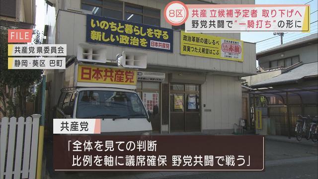 画像: 共産党が静岡8区で立候補予定者取り下げへ 「野党共闘で戦う」 youtu.be