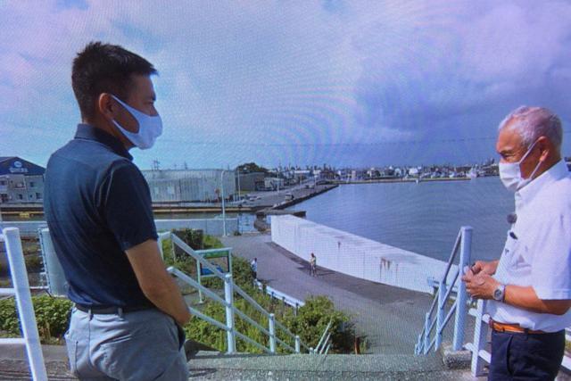 画像: 焼津市港第14自治会 嶋芳正会長を取材