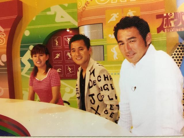 画像: 20年前の「スポーツパラダイス」出演メンバー 左は、現在アビスパ福岡の「敏腕広報」として活躍している高木千亜紀さん