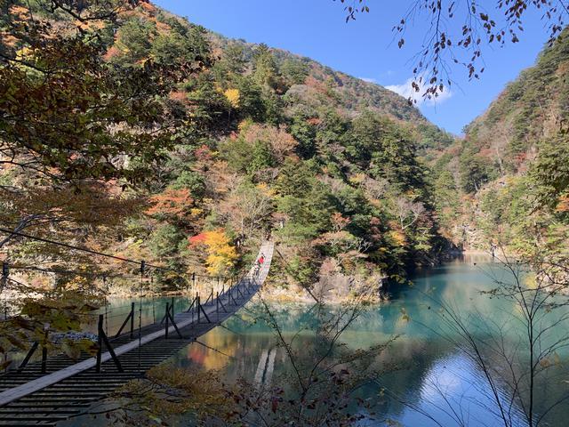 画像2: 紅葉真っ盛り!寸又峡の夢の吊り橋へ