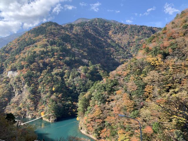 画像1: 紅葉真っ盛り!寸又峡の夢の吊り橋へ