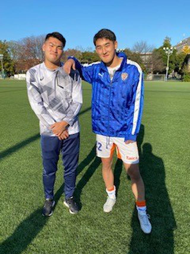 画像: (左が、2022年シーズンのエスパルス加入内定、加藤拓己選手。右はエスパルスユース出身・監物選手)