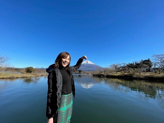 画像: 周囲に人がいない時、そして撮影時のみマスクを外しています‥ in田貫湖