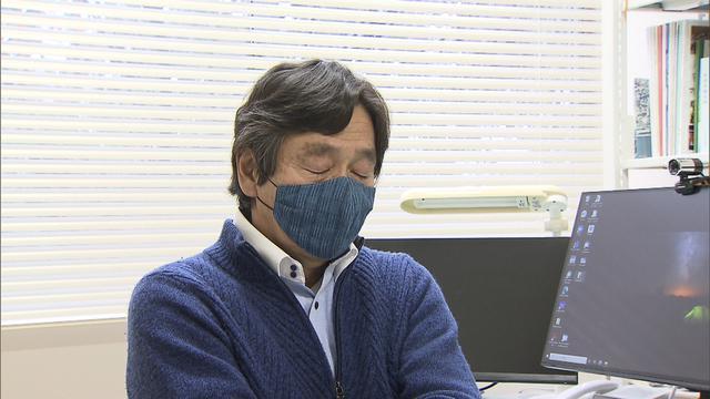 画像: インタビュー中、言葉を詰まらせる岩田孝仁氏 若い世代には特に「阪神の記憶」は伝えたいと・・・