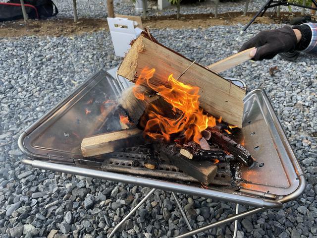 画像: 火を点けるところから!