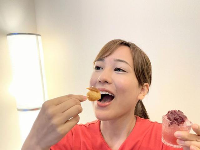 画像: 揚げ団子5種×かき氷5種×深蒸し茶2杯!一度にたくさん食べられない私でも美味しく食べきりました。