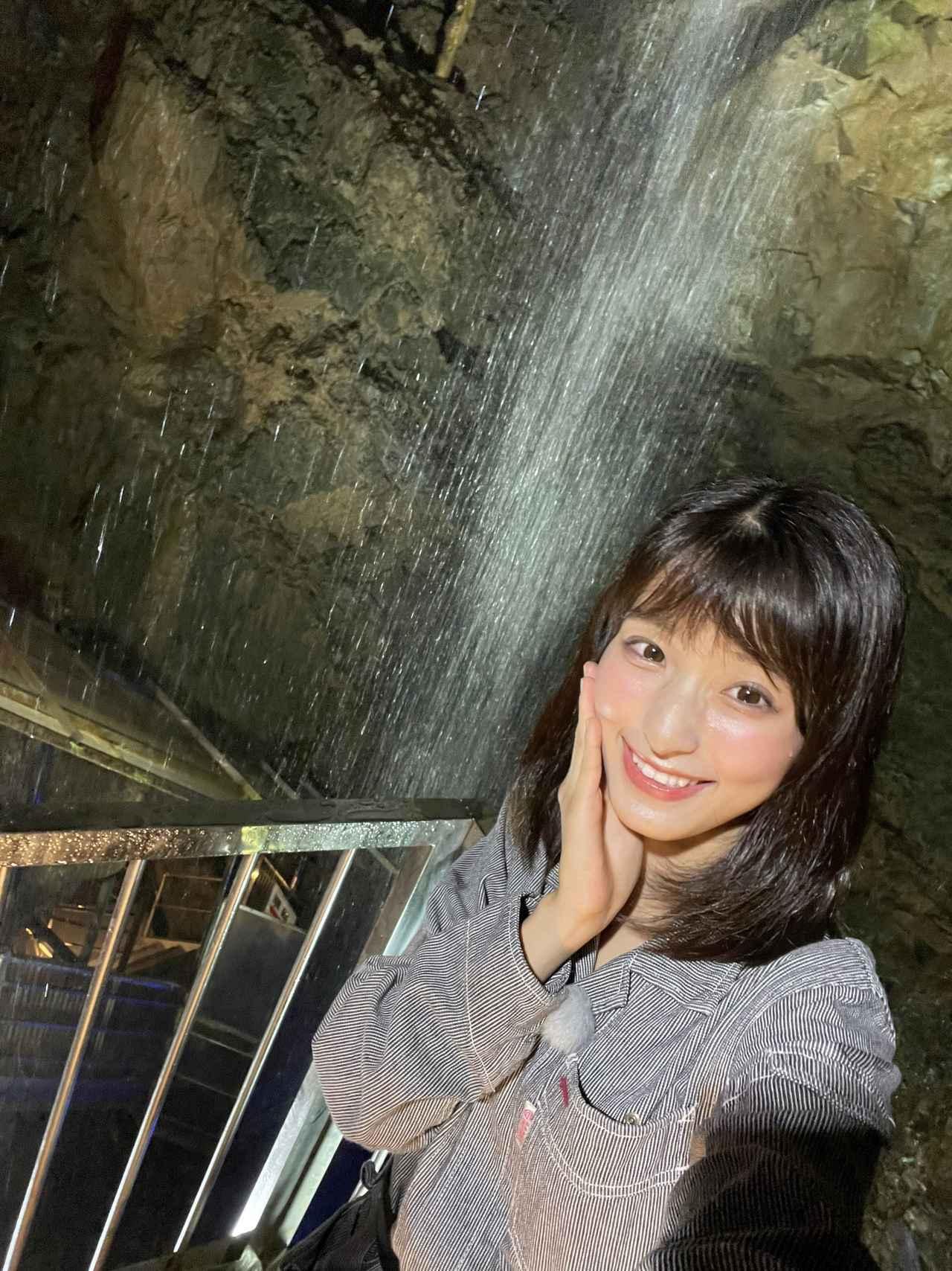 画像: 鍾乳洞の中はマイナスイオンたっぷり。お肌にいいそうです(^^)