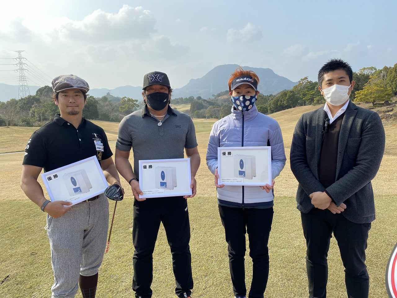 画像: カテゴリー優勝者 オープン:三隅選手、シニア:古賀選手、ウィメンズ:楢原選手