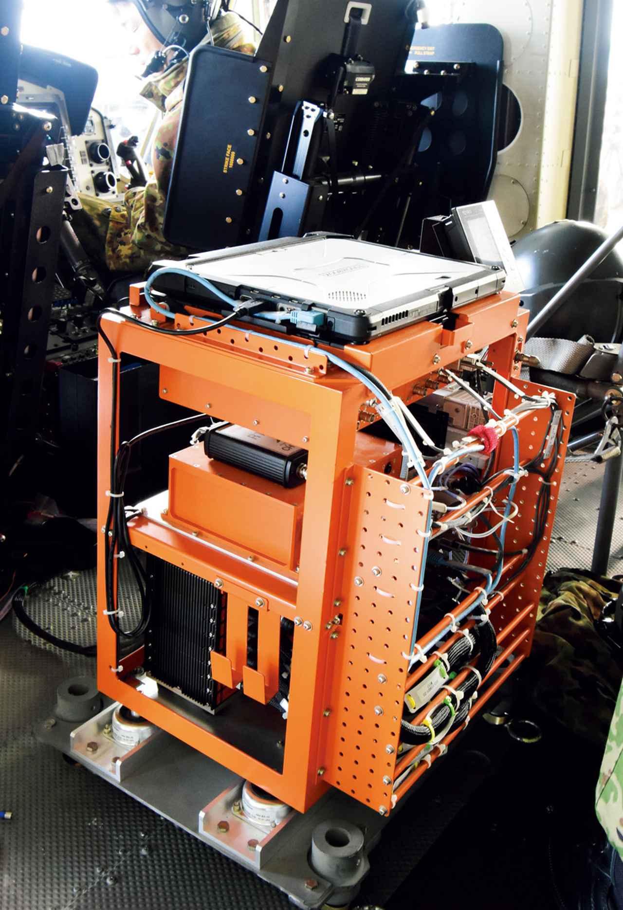 画像: UH-Xに搭載される「フライト・データ・レコーダー」。機体各所に配されたセンサーからデータを収集している