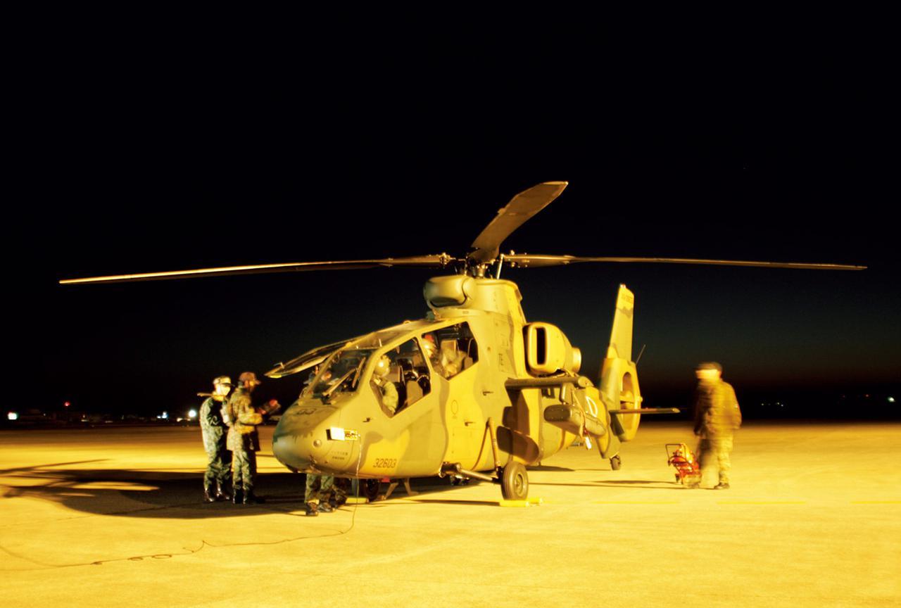 画像: 夜間飛行試験