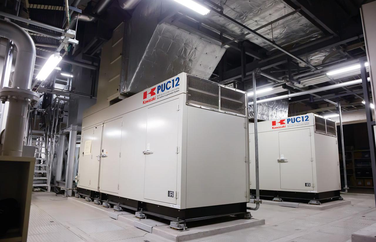 画像: 病院の機能を維持した状態で、自家発電装置は、およそ5日間、院内に電気を供給することができる