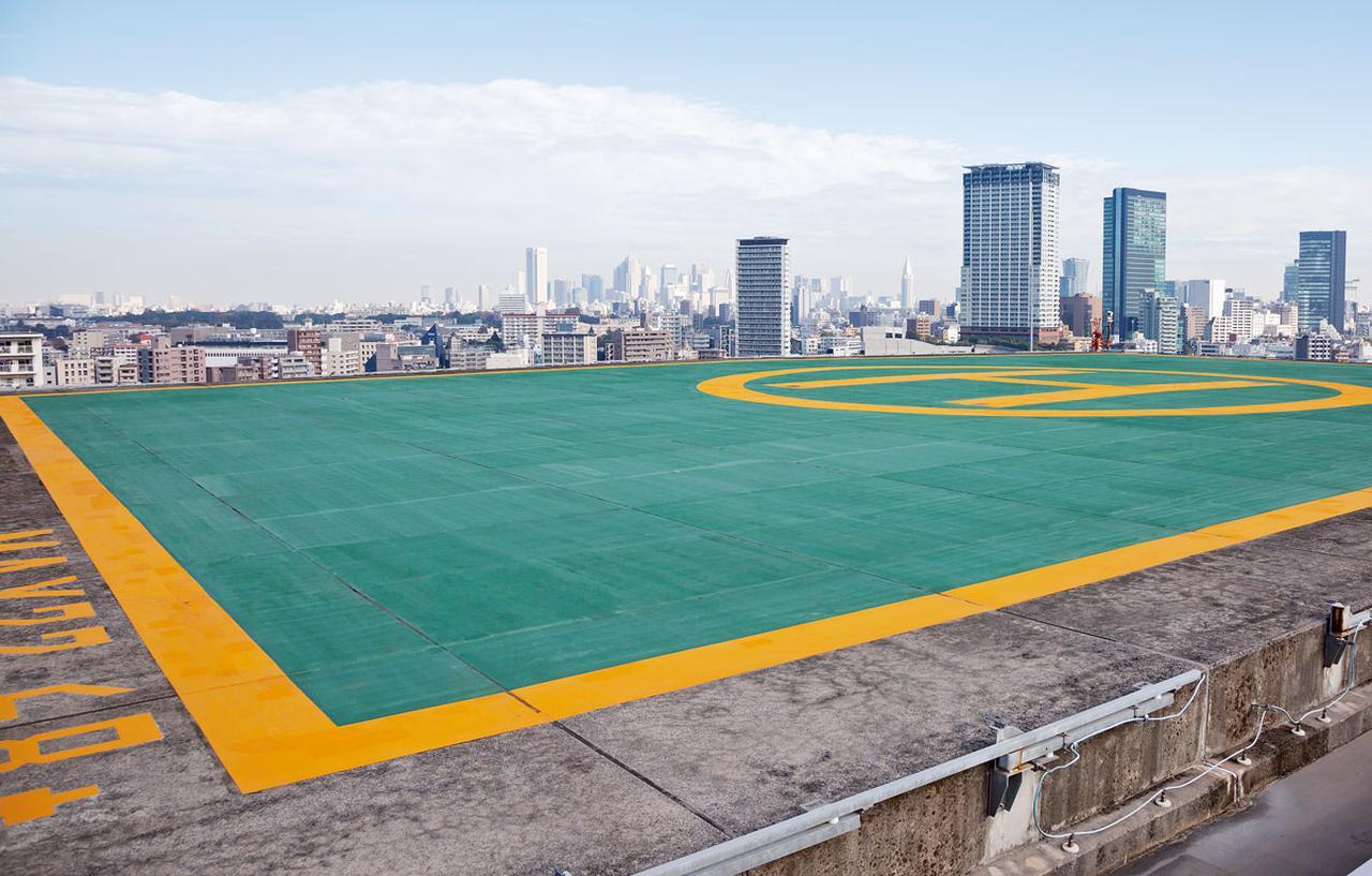画像: 大型ヘリコプターが離着陸可能な病院として都内唯一のヘリポート
