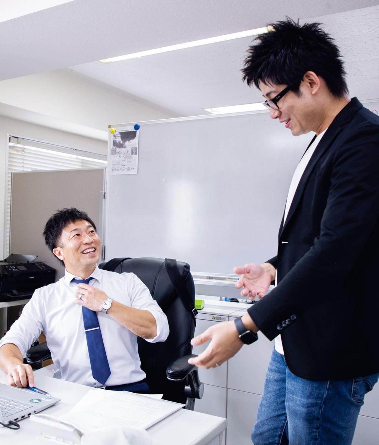画像: 勤務先の代表取締役・木下さんとは長年の友人関係。仕事のことはもちろん、即応予備自衛官になりたいという希望も、何でも相談できる間柄だ