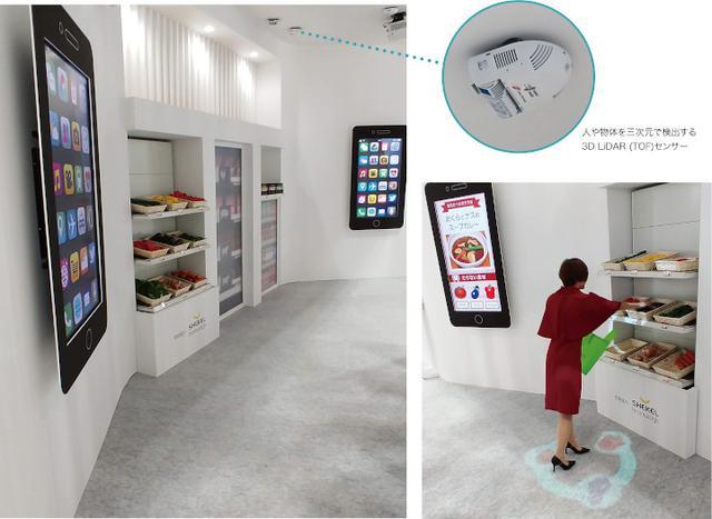 画像: 家とつながる楽しい店舗(CEATEC2019にて参考展示)