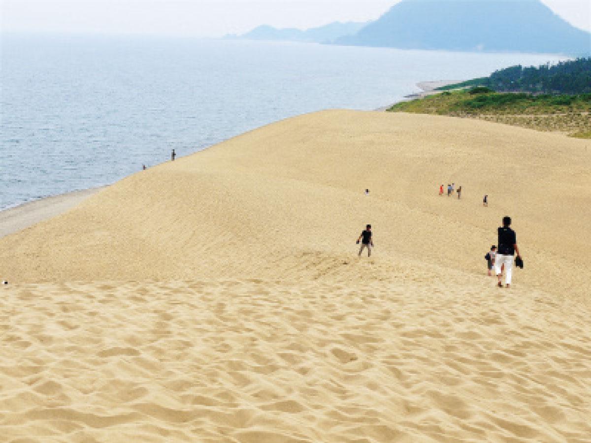 画像: 鳥取を訪れた五郎は、地元の人の案内で鳥取砂丘を訪れ、馬の背と呼ばれる砂丘の小高い山の上まで登りきり、高みから日本海を眺めた