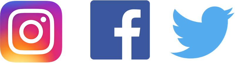 Instagram、Facebook、Twitter