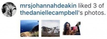 """ルイの母親がダニエルの写真を""""いいね!""""。"""