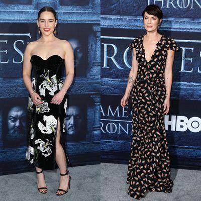 デナーリス役のエミリア・クラークはERDEM(アーデム)を、サーセイ役のリーナ・ヒーディはJITROIS(ジトロワ)のドレスで。