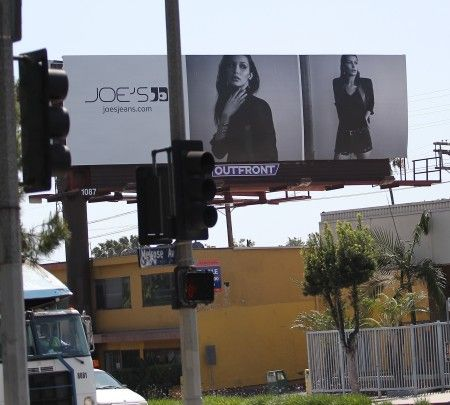 Bella Hadid's ad for Joe's Jeans in Hollywood