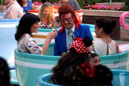 EXCLUSIVE: James Franco celebrates his 38th birthday dressed as David Bowie at Disneyland!