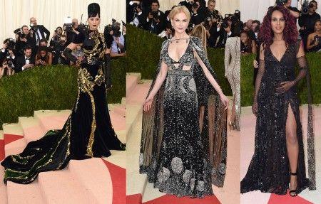 左から:ケイティ・ペリー<Prada>、ニコール・キッドマン<Alexander McQueen>、ケリー・ワシントン<Marc Jacobs>