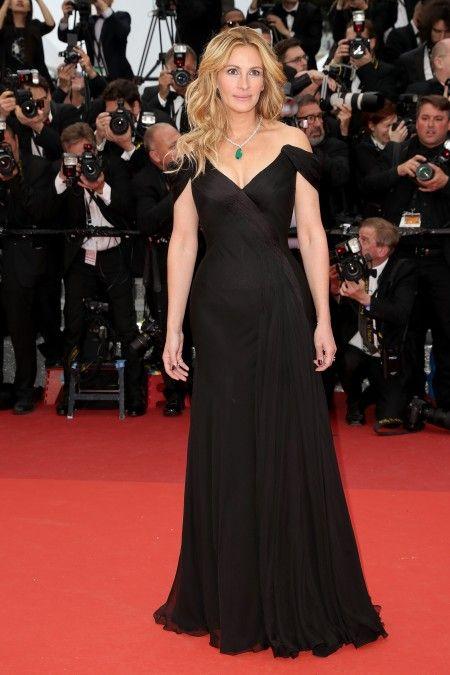 主演映画『マネー・モンスター』のプレミアに出席したジュリア。