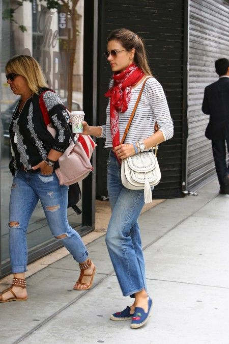 *EXCLUSIVE* Alessandra Ambrosio keeps it casual on her way to a meeting