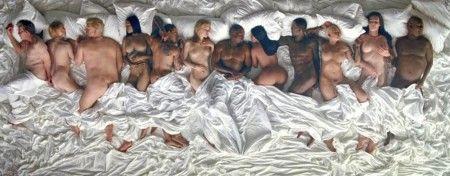 フィーチャーされた著名人たち(左から):ジョージ・W・ブッシュ元米大統領、米VOGUE誌編集長アナ・ウィンター、政治家のドナルド・トランプ、リアーナ、クリス・ブラウン、テイラー・スウィフト、カニエ・ウェスト、キム・カーダシアン、キムの元恋人でシンガーのレイ・ジェイ、カニエの元恋人でモデルのアンバー・ローズ、キムの義理の父でトランスジェンダーであることを告白した元オリンピック選手のケイトリン・ジェナー、ここ数年間に数多くのレイプ被害者たちから訴えられたコメディアンのビル・コズビー。