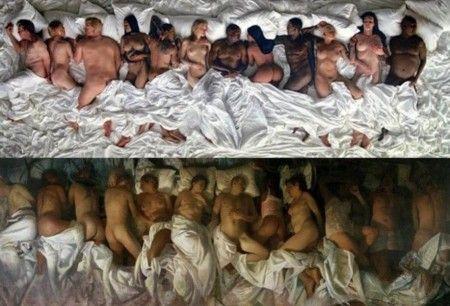 ヴィンセント・デジデリオの「スリープ」(写真下)との比較。