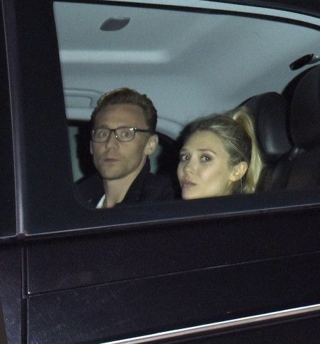 Elizabeth Olsen and Tom Hiddleston dinning out at 'The Wolseley' London, UK.